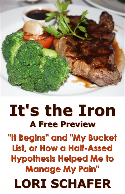 "It's the Iron: ""It Begins"" and ""My Bucket List, or How a Half-Assed Hypothesis Helped Me to Manage My Pain"""